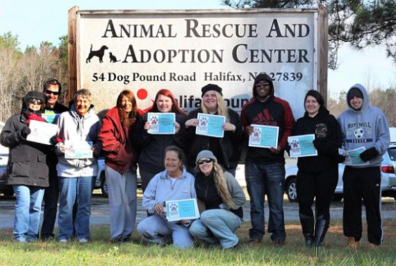Volunteers at Rainbow Animal Rescue, NC